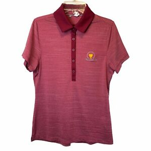 Under Armour Polo Women's Small Red Golf Fitted Heat Gear Presidents Cup $15.97