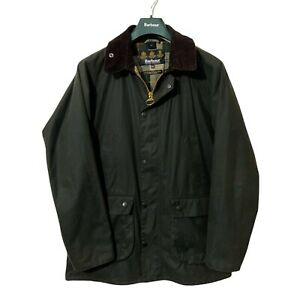 £279 Barbour SL BEDALE Men#x27;s Sage Green Waxed Wax Jacket Tailored Fit XXL 44 GBP 149.99