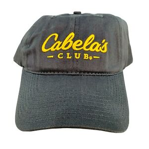Cabelas Club Hat Strap Back Buckle Outdoor Sporting Goods Hunting Fishing Gray