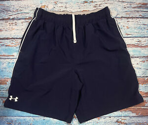 mens UNDER ARMOUR shorts large loose navy blue lightweight $19.99