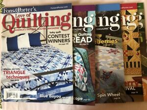 Lot of 5 Fons and Porter#x27;s Love of Quilting Magazines 2008 $9.99