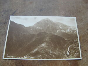 Early Abraham postcard Snowdon from Pyg Track GBP 1.50