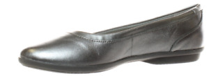 Clarks Collection Leather Ballet Flats Gracelin Mara Pewter $29.99