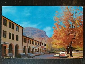 Autumn Scene showing Admin Bldg Lake Lure NC Mid Later 1900s Wrinkle