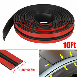 Auto Car Windshield Roof Seal Noise Insulation Rubber Strip Sticker Accessories $9.59