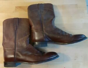 Justin Boots 10.5 d Brown Leather