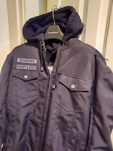 Street Steel Anarchy Motorcycle Jacket w Hoodie Mens XL Excellent Condition $139.99
