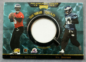 McNabb Staley Johnson Brown Eagles 1999 Playoff Absolute SSD Team Threads Quad