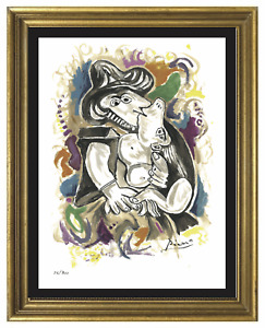"""Pablo Picasso quot;The Kissquot;"""" Signed amp; Hand Numbered Ltd Ed Print unframed $79.99"""