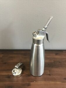 ISI Whip Cream Dispenser 1L Stainless Steel Pre owned Austria Vintage Extra Top