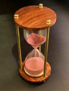 Antique Sand timer Wooden Hourglass Vintage Hourglass Maritime Nautical Decor 6 $25.99