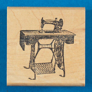 Old Sewing Machine Rubber Stamp by Stamp Francisco Antique Singer on Stand $11.99