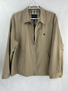 Brooks Brothers Full Zip Jacket Chest Logo Size XL Lined $50.00