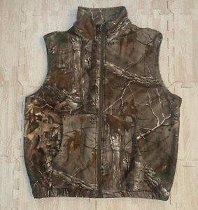 REDHEAD Hunting Vest Realtree Camo Camouflaged Warm Fleece Size Large