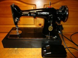 1946 SINGER SEWING MACHINE MODEL 201 2 SERVICED $300.00