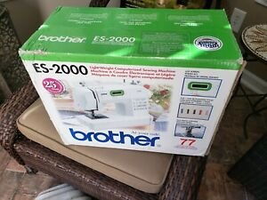 RARE ES 2000 BROTHER Sewing Machine Light weight COMPUTERIZED NEW IN BOX $135.00