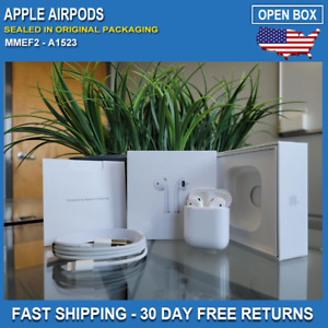 Apple AirPods In Ear Headsets with Charging Case White Comes In Original Box $68.88
