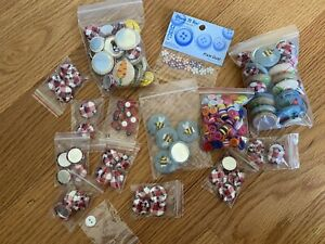 NEW BULK Sewing Buttons amp; Fabric Buttons Crafts Jewelry Making Supply Lot $19.99