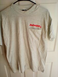BUDWEISER t shirt Size L NEW NO TAGS vintage $9.99