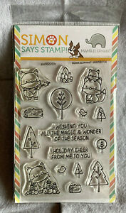 Stamptember Collab Mama Elephant Exclusive Winter Fox Stamp Die New Sealed $125.00