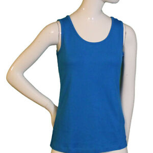 Lands End Women Size X Small 2 4 Petite Tank Top Tranquil Blue $12.00