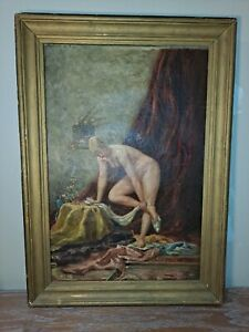 Authur beckwith art 24x16 1881 original vintage painting $1500.00