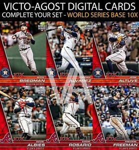Topps Bunt World Series SUPER RARE RED BASE 10x COMPLETE YOUR SET BUNT APP $2.95
