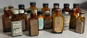 Lot of 19 Antique Glass Medicine Bottles With Intact Labels TR03 $169.99
