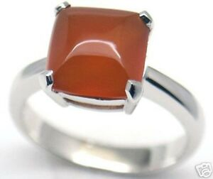 Gorgeous Woman Carnelian Silver Ring S 7.25 #152