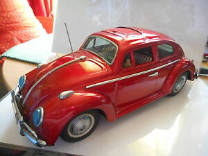 volkswagen cox beetle kafer bandai japan tin
