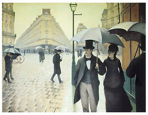 Rue de Paris Wet Weather c.1877 Gustave Caillebotte Art on Canvas