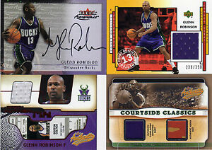 HUGE (25) GLENN ROBINSON 1994-04 JERSEY SHIRT SEAT FLOOR WARM-UP ROOKIE AUTO LOT