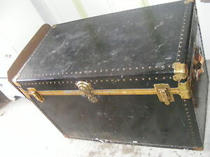 Vintage Black Trunk with Insert