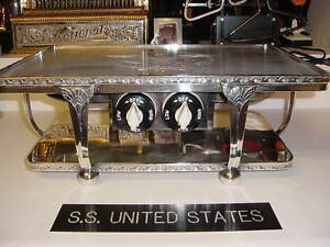 SS UNITED STATES LINES  Silver Plate Warmer    Never Used    USL-52