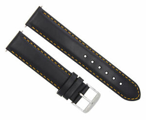 20MM LEATHER STRAP BAND BRACELET FOR MONTBLANC WATCH BLACK OS #4