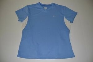 UNDER ARMOUR FITNESS WORKOUT DRY FIT BLUE SHIRT WOMENS SIZE SMALL S