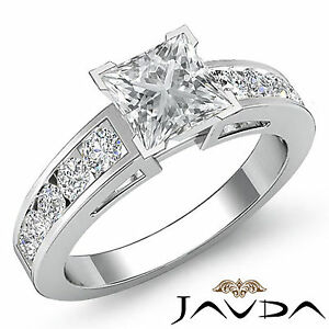 Natural Princess Diamond Elegant Engagement Ring GIA G VS2 Platinum 950 1.75 ct