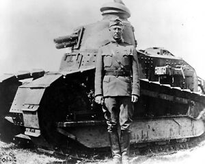 New 8x10 World War I Photo: Lieutenant Colonel George Patton in France, 1918
