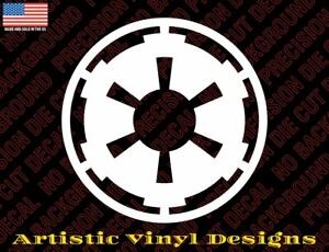 Star Wars inspired decal sticker, Galactic Empire, different colors and sizes