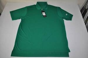 ADIDAS GOLF DRY FIT CLETIC GREEN POLO SHIRT MENS SIZE LARGE L NEW