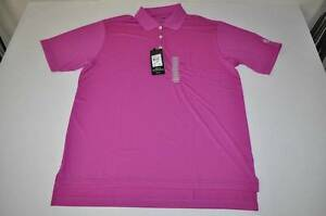ADIDAS GOLF DRY FIT RASPBERRY PURPLE POLO SHIRT MENS SIZE MEDIUM M NEW
