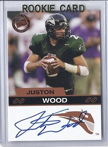2003 Press Pass Football Justin Wood  Bronze Portland State Autographed RC