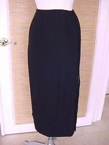 HERMES Skirt Full Length Zippers Each Side 38 4 to 6 mint