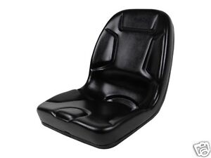 HIGH BACK BLACK SEAT FITS 650750850950amp; 1050 JOHN DEERE COMPACT TRACTOR #DM
