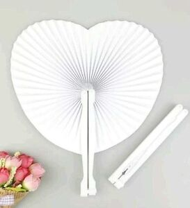 Paper Heart Folding Fans - Chinese Loot/Party Bag Fillers Wedding favours