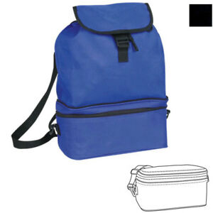 Cooler Backpack Rucksack Lunch Box Bag Water Bottles Drinks Food 11 x 15-1/2