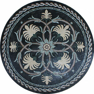 Flowers Design Art Tile Stone Medallion House Decor Marble Mosaic MD1383