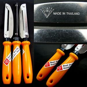 1 x Stainless Steel Vegetable Fruits Peeler Paring Knife Thai Kitchen easy carry