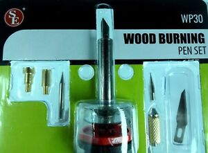 Professional 9pc Wood Burning Pen & Soldering Iron Tips Set Wood Working Burner