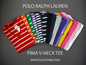 NWT LOT of 10 NWT POLO RALPH LAUREN WOMEN'S V-NECK JERSEY SPORT PIMA T SHIRT TOP